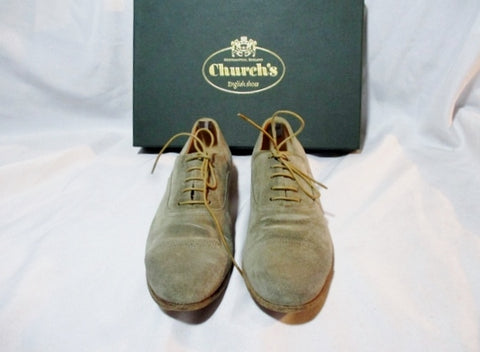 CHURCH'S ENGLISH SHOES FLAT Loafer SHOE 35.5 5/6 DOTTY STONE SUEDE BROGUE