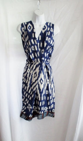NEW NWT DRIES VAN NOTEN DIONE Silk Dress 36 4 BLUE WHITE Print Block