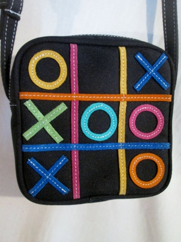 NEW SYDNEY LOVE TIC TAC TOE Shoulder Bag Crossbody Swingpack Purse BLACK Mini Pouch