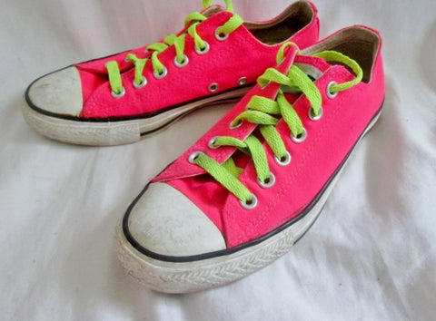 CONVERSE ALL STAR Sneaker Trainer Athletic Sports Shoe HOT PINK Mens 5 Womens 7