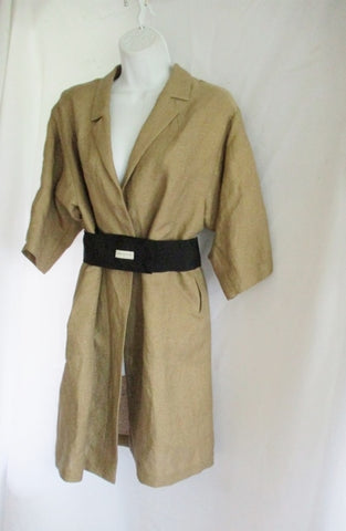 New DRIES VAN NOTEN Belted Trench Long jacket coat S GOLD Womens
