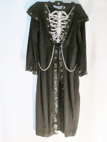 Youth Child CRYPT MASTER GHOUL SKELETON Halloween Costume Disguise M Kids BLACK