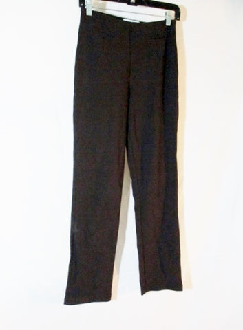EQUESTRIAN DESIGNS High Waist Elastic Flat Front Tapered Pant S BROWN Womens
