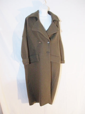 NWT MARNI ITALY DEEP SAGE WOOL trench jacket coat 40 10 Womens NEW peacoat