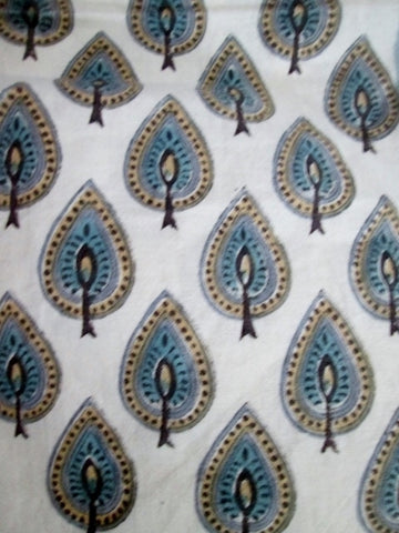 NEW Set ANOKHI 43X43 PRINTED CLOTH NAPKIN Table Decor WHITE BLUE CYPRESS BOHO Entertaining