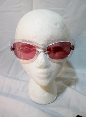 NEW PRADA ITALY CAT EYE LUXOTTICA SPR 19M Sunglasses CLEAR PINK