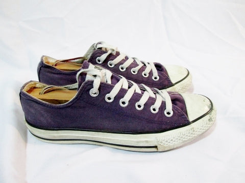 CONVERSE ALL STAR LOWRISE Sneaker Trainer PURPLE M 6 W 8 CHUCKS Athletic Shoe