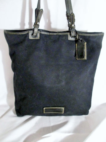 DOONEY & BOURKE FASHION NIGHT OUT TOTE Shopper Bag Purse BLACK  Satchel Carryall Canvas