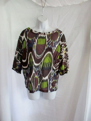 NWT NEW DRIES VAN NOTEN PRINT BATWING TEE Top Shirt S Purple