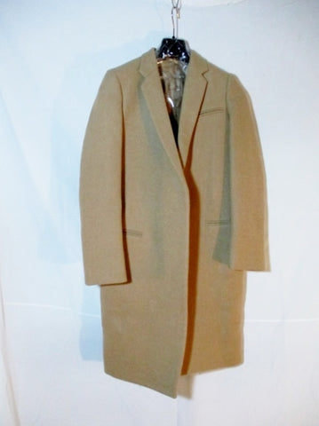 NWT CELINE ITALY CAMEL WOOL trench jacket coat 34 4 BROWN Womens NEW