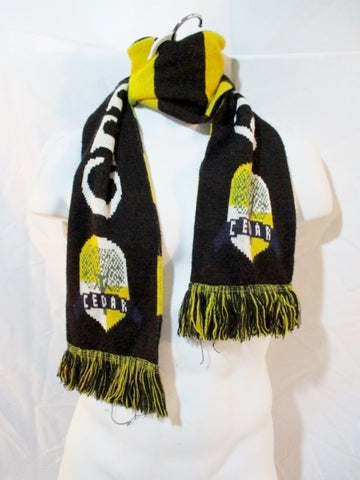 DIEHARD Scarves FOOTBALL CEDAR 2018-2019 Fringe Scarf Gold White Black