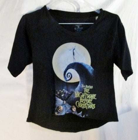 NEW NWT DISNEY TIM BURTON'S NIGHTMARE BEFORE CHRISTMAS T- SHIRT BLACK S