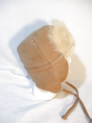 NEW J. CREW JCREW Aviator Fur Hat Cap Trooper Flap Cossack Trapper BEIGE Cosplay