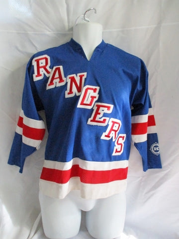 Youth NHL AUTHENTIC KOHO NEW YORK RANGERS Size L / XL HOCKEY Jersey BLUE Shirt