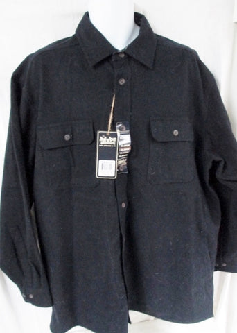 NEW MENS LEVI'S Levi Strauss Cotton Flannel Button JACKET Coat XL BLACK