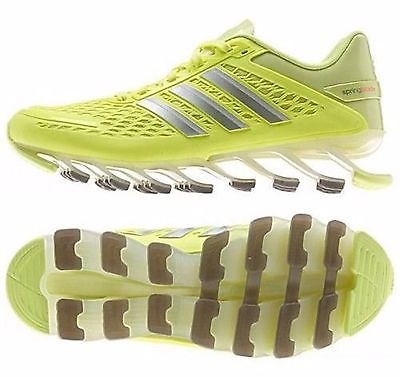 Womens ADIDAS SPRINGBLADE Running Athletic Sport Shoe Sneaker YELLOW 6 M20200
