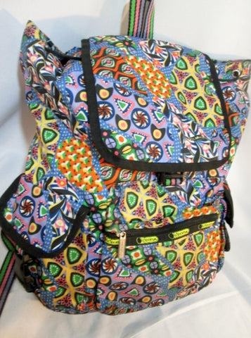 LESPORTSAC Travel Book BAG Backpack Rucksack Bag Daytripper PURPLE MULTI LE SPORT SAC