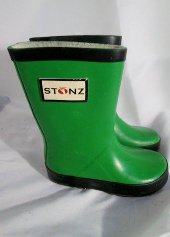 Toddler Baby Infant STONZ Wellies Rain Boots Rainboots GREEN 7 Puddle Jumpers Gumboots
