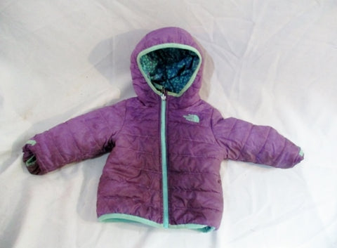 Baby Infant THE NORTH FACE Jacket Coat Puffer 18-24M Purple Blue Reversible Winter
