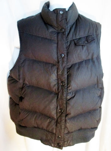 Mens GAP DOWN Puffer Winter Vest Sleeveless Coat Jacket BLACK M Outdoor