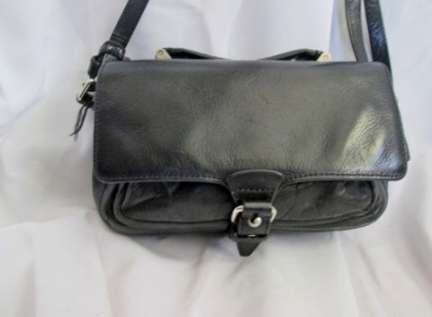 3.1 PHILLIP LIM Leather Case Mini Crossbody Shoulder Bag Flap Purse BLACK Bag Man
