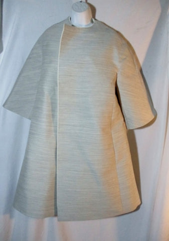 NEW NWT CELINE Long Open Jacket Coat 36 / 4 GRAY WOOL Blend