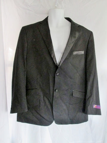 NEW NWT Mens RR ORSINI Tuxedo Sport Jacket Suit Blazer 44R BLACK Formal Wedding