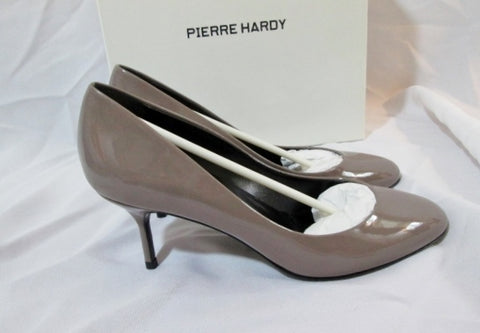 NEW PIERRE HARDY PATENT LEATHER TAUPE Stiletto Heel Shoe 36 6 Pump Womens