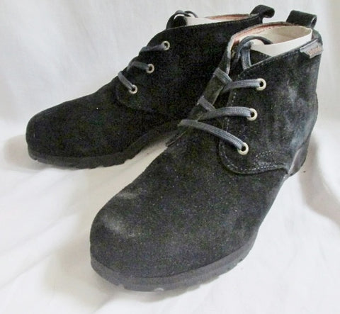 Mens DOLOMITE Suede Chukka Ankle Boot Shoe Trail Hiking Work BLACK 11.5 Leather