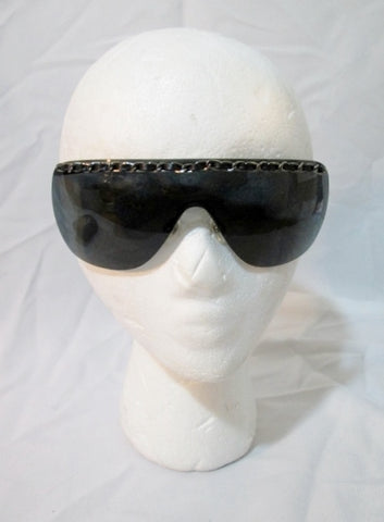 Womens CHANEL ITALY Rimless Shield Chain Sunglasses 4160-Q + Case
