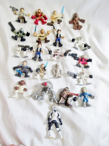 Set Lot 21 Minifig Moveable Star Wars Collectible Figurine Toy Display Fan HASBRO Statue