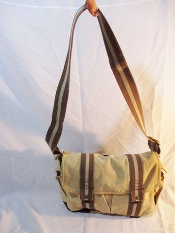 GAP Canvas Messenger Flap Bag PursePockets KHAKI BEIGE BROWN