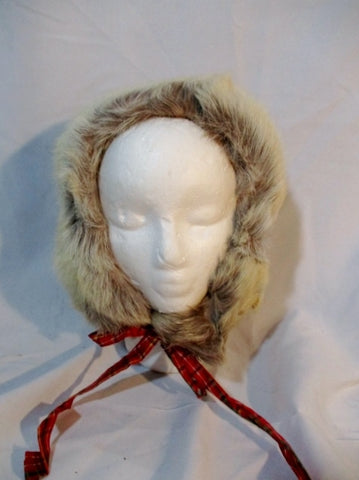 Genuine Fur Cap Trooper Flap Cossack Trapper Aviator BEIGE TAUPE CREME ECRU