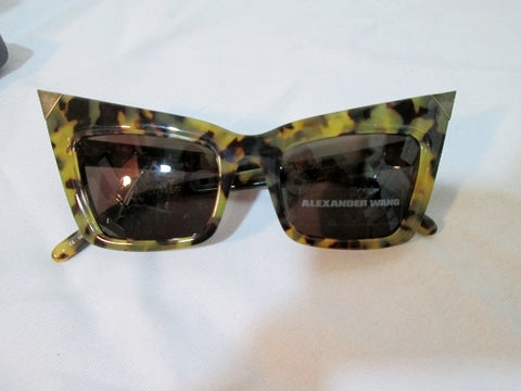NEW ALEXANDER WANG JAPAN CAT EYE LINDA FARROW Sunglasses LEOPARD