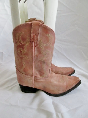 Kids Girls Youth SMOKY MOUNTAIN BOOTS Leather Western Cowboy 3 PINK