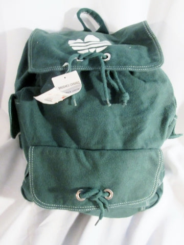 NEW NWT ADIDAS BRUSHED CANVAS BACKPACK Shoulder Rucksack Travel BAG GREEN Gym