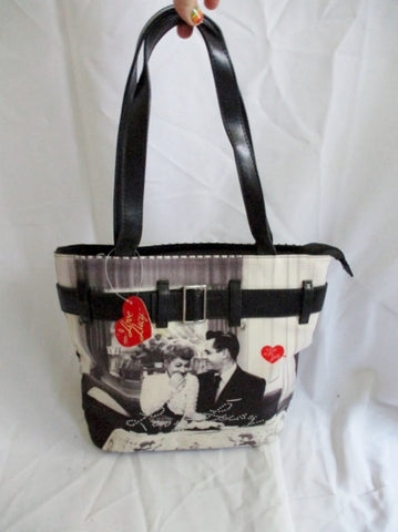 NEW I LOVE LUCY TV Show Television Satchel Shoulder Tote Bag WHITE BLACK purse