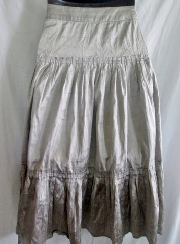 NEW Womens TWELFTH STREET BY CYNTHIA VINCENT Ruffle SILK SKIRT 2 Boho Ruffle