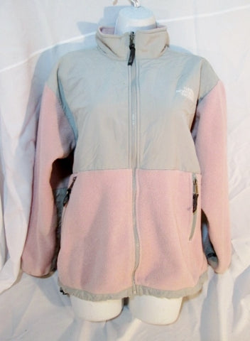 Kids Teen Youth Girls THE NORTH FACE JACKET Fleece Coat XL PINK GRAY
