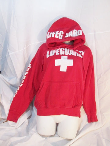 Womens LIFEGUARD BROOKLYN POPULARITY PRODUCTS Sweatshirt Hoodie L RED Pullover