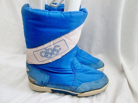 Mens LEJON ABC OLYMPICS WATERPROOF Winter Lined Snow BOOTS Shoes BLUE 42 / 9