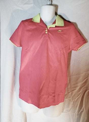 NEW NWT Mens NIKE POLO Golf T-Shirt Short Sleeve PINK YELLOW 3XL XXXL