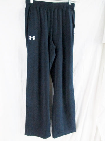 Womens UNDER ARMOUR Sweatpants Athletic Workout Yoga Pants NAVY BLUE M