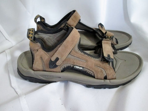 EUC Mens TEVA 6571 SPOILER RIVER SANDAL Water Aqua SHOES BROWN 12 Camping Outdoor