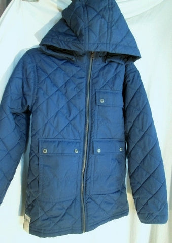 Girls Boys GAP Kids Quilted  Jacket Coat Hood Ski BLUE L 10 Snowboarding GAP
