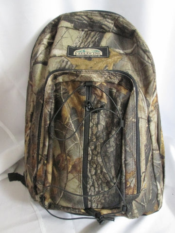 FIELDLINE COVERT CAMO Backpack Rucksack School Book Bag Vegan BROWN Hunting