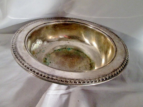 "Vintage 11"" Signed SHERIDAN SILVERPLATED Serving BOWL DISH"