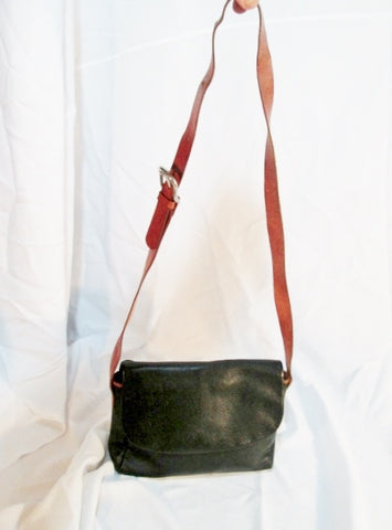 MOGAMBO BARCELONA Leather Flap Shoulder Bag Man Purse Crossbody BLACK BROWN