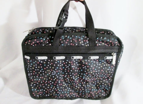LESPORTSAC Makeup Jewelry Organizer Toiletries Cosmetics Travel BAG BLACK STAR Case Le Sport Sac