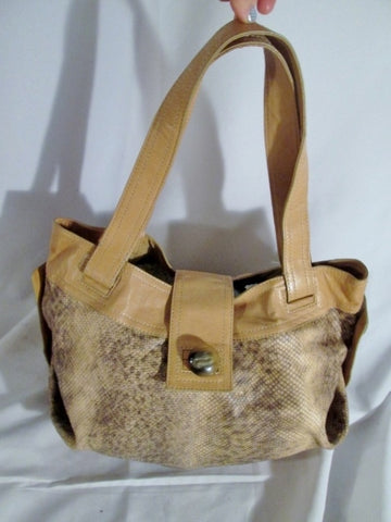 KOOBA python snakeskin leather hobo satchel shoulder bucket bag tote BROWN Slouch